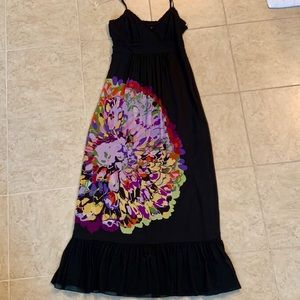 Kenzie Black Silk Maxi Sundress